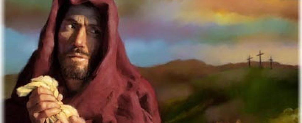 Jezusa Judasz przedał zapieniądze nędzne..