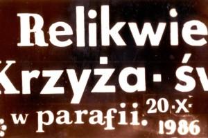 Peregrynacja Krzyża świętego '86