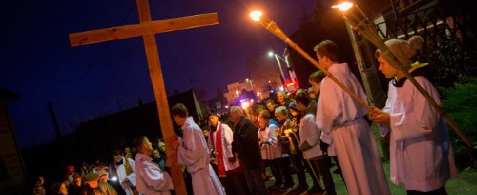Droga krzyżowa wzaprzyjaźnionej parafii